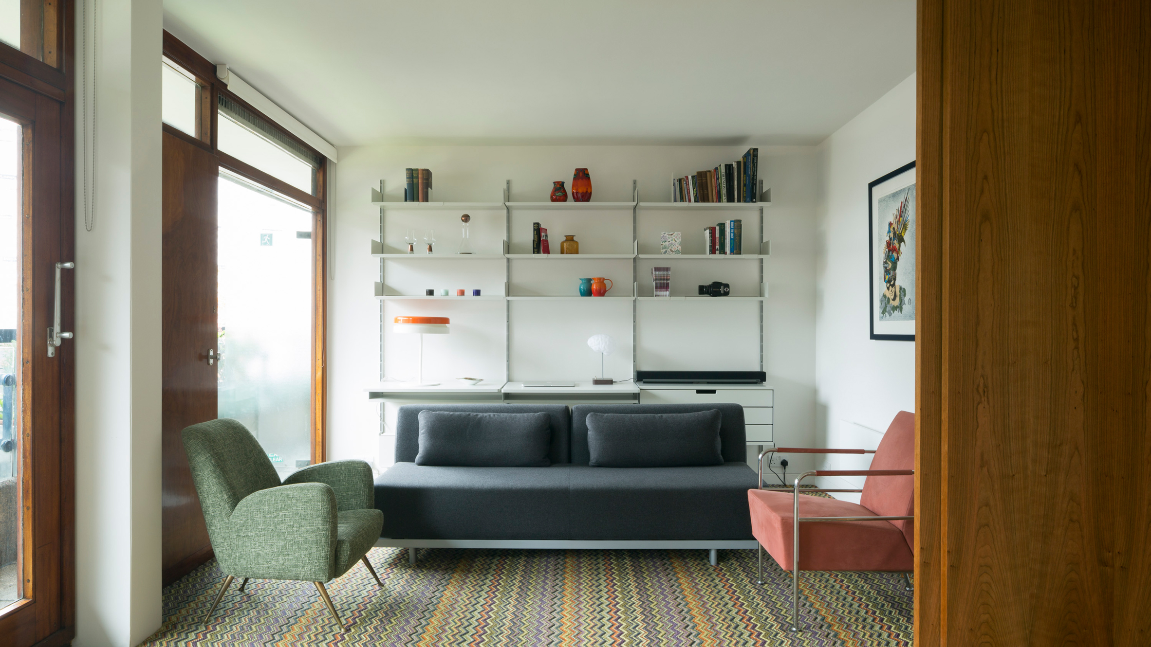 living group london miami midcentury apartment gets sleek revamp at londons barbican estate