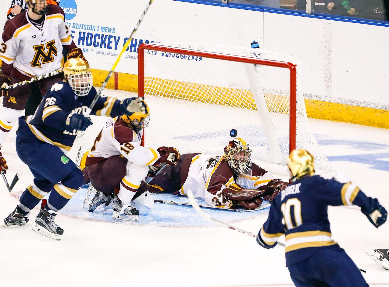 NCAA: Northeast Regional - Bjork, Notre Dame Storm Past Minnesota