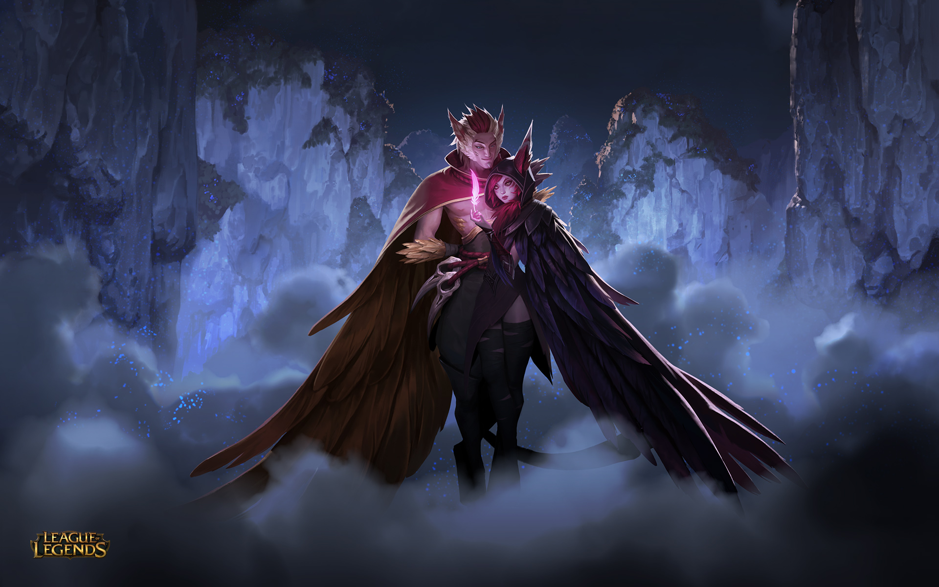 Xayah and Rakan release skins: Cosmic Dusk and Dawn join ...
