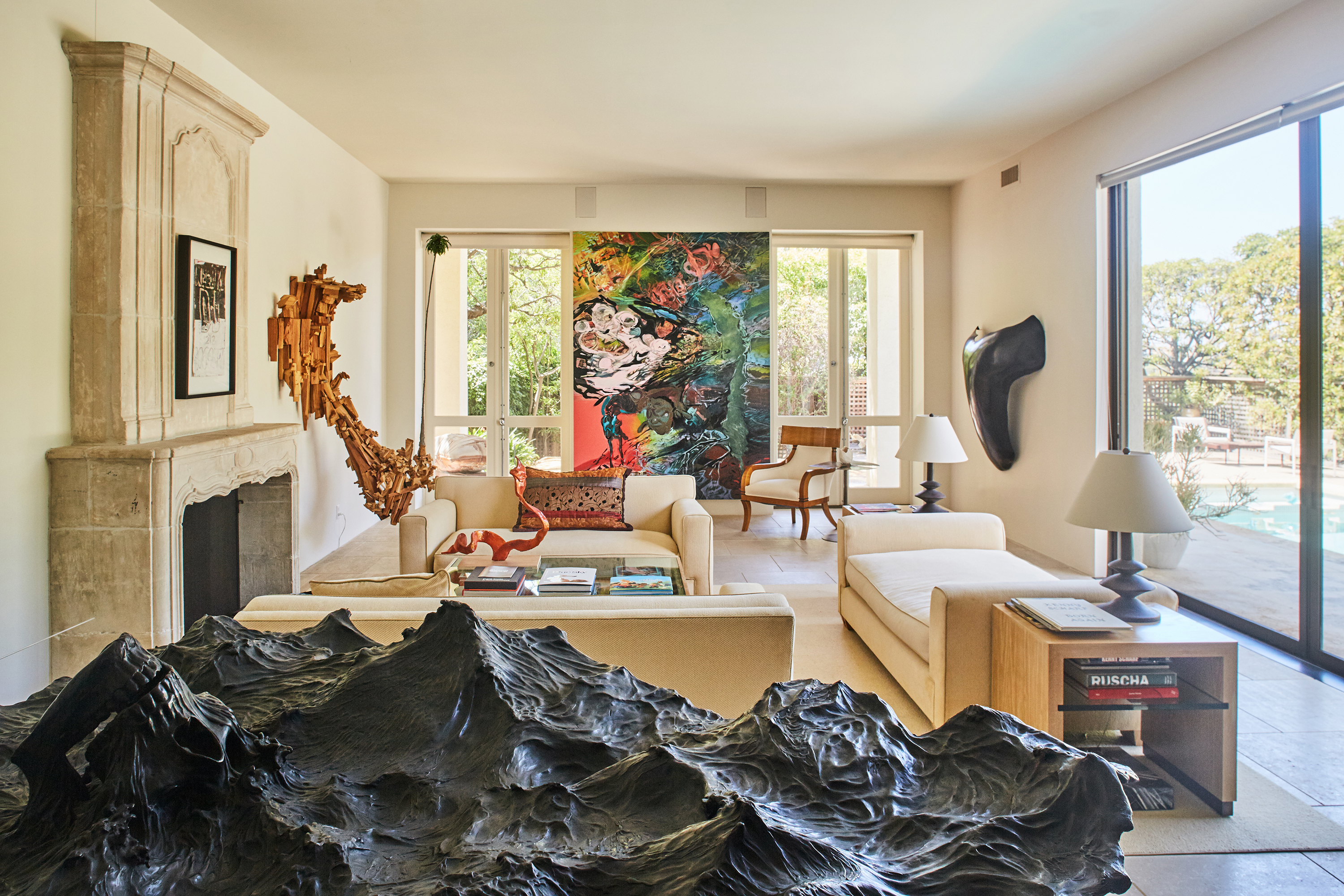 Inside Merry Norris s exuberant  art filled Hollywood Hills home. Los Angeles homes  neighborhoods  architecture  and real estate
