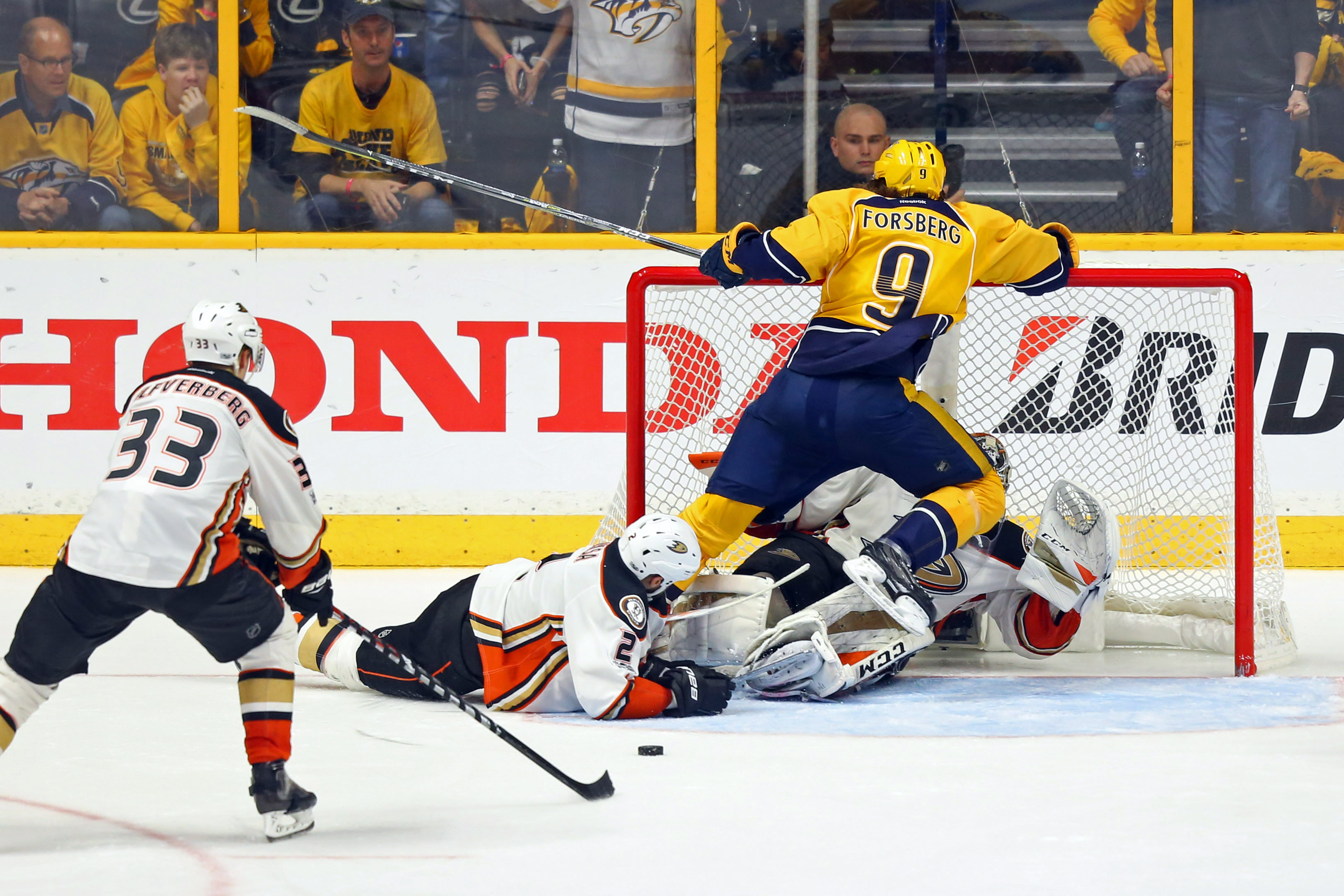 Image result for Nashville Predators tie Anaheim with 34 seconds left